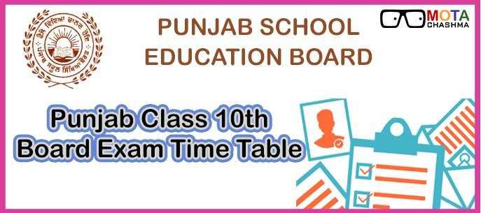 PSEB Class 10 Date Sheet