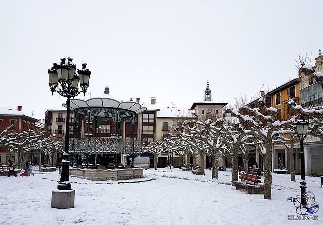 Por fin, nieva este año en Briviesca  (4)