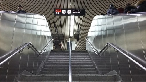 Stairs to Fairview Mall and Parking