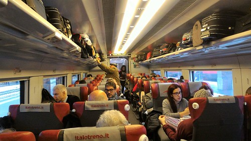 On the train from Napoli to Rome, Italy