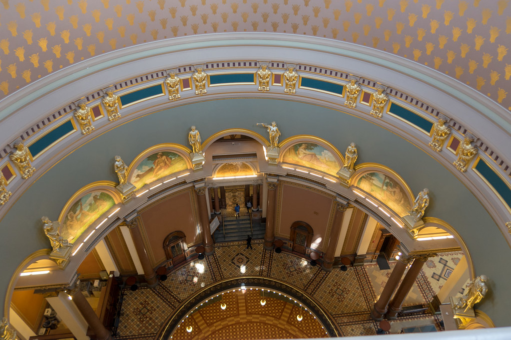 View from the top of the dome at the Iowa State Capitol Building
