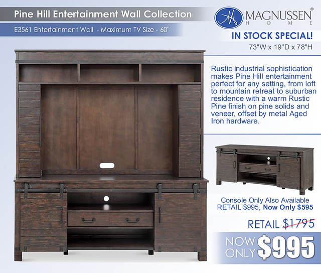 Pine Hill Entertainment Wall
