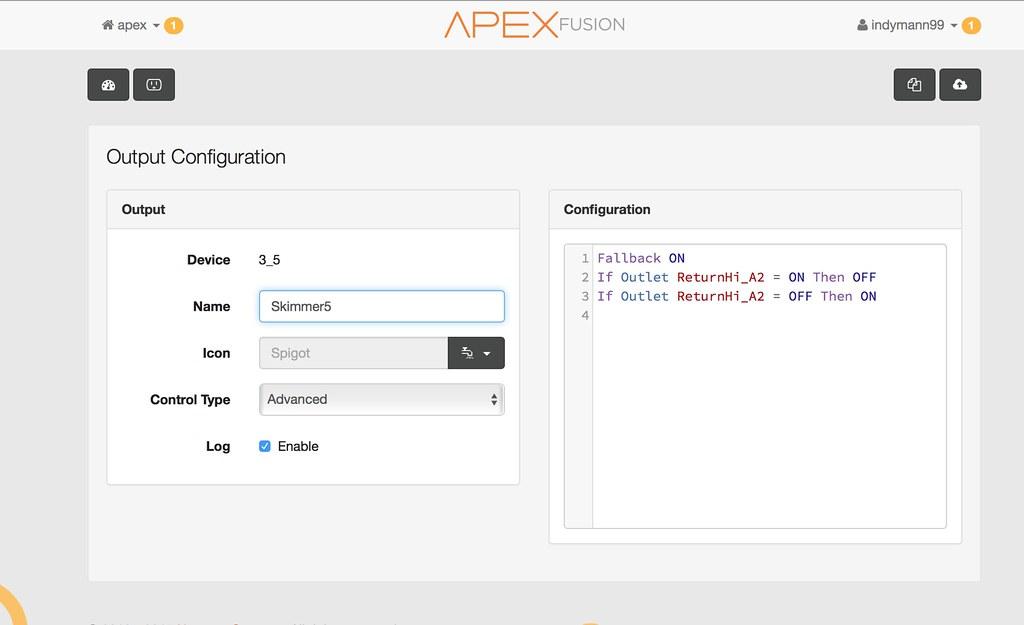 APEX skimmer code