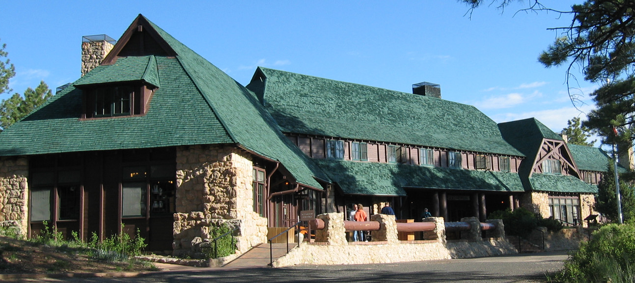 Bryce Canyon Lodge was built between 1924 and 1925 from local materials.