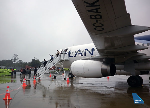 LAN A320 en Chiloé (RD)