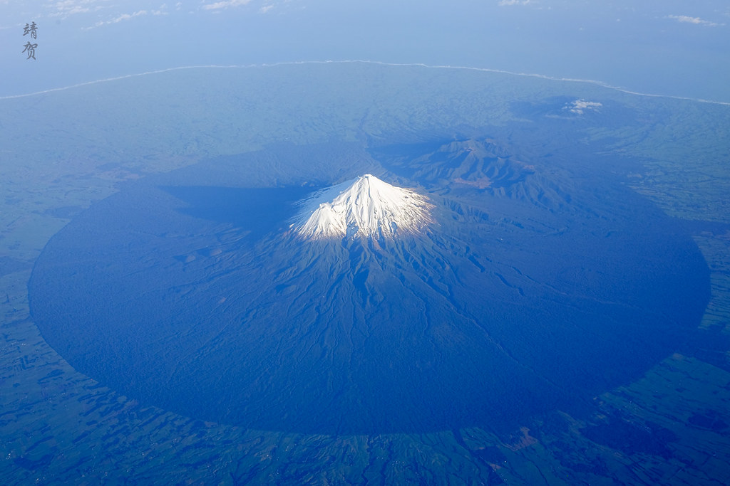 Flying past Mt. Taranaki