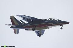 E85 8 F-UGFF - E85 - Patrouille de France - French Air Force - Dassault-Dornier Alpha Jet E - RIAT 2014 Fairford - Steven Gray - IMG_1773