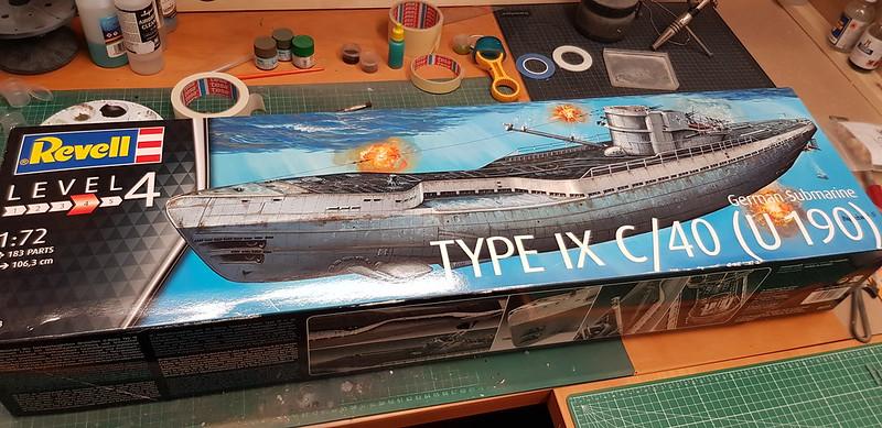 Revell 1/72 Type IX C/40 U-Boot U-190 - International Scale