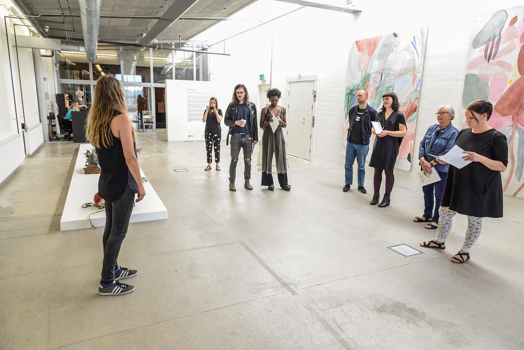 Performativt værk til udstillingen UDEN TITEL 2017 på Kunsthal NORD