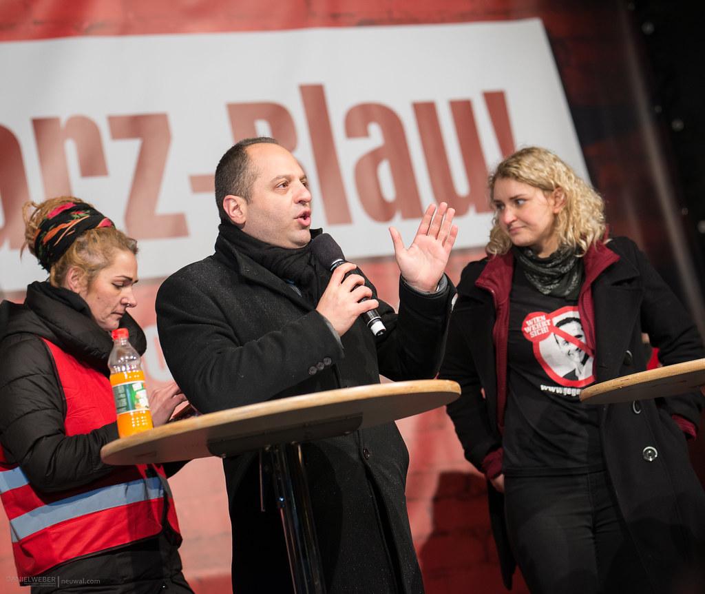 20180113 #Neujahrsempfang DEMO gegen #Schwarzblau in #Wien