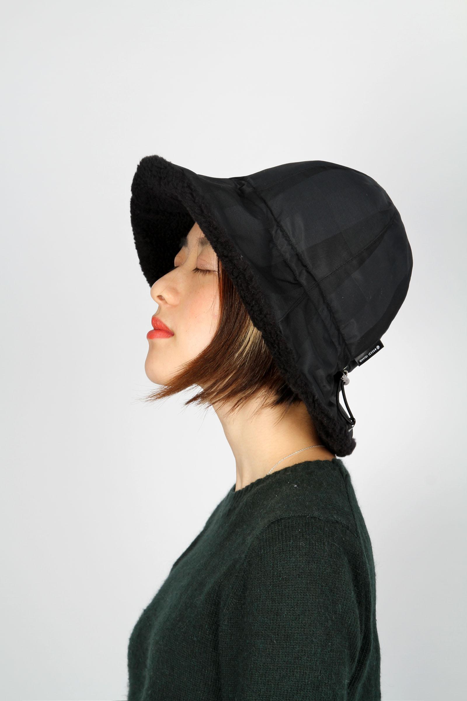 d6755a039e9 Waterproof storage fluff fisherman hat - Black Check - Designer ...