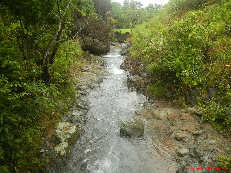A stream that is part of the irrigation system