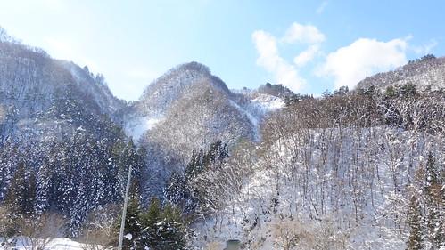 足湯新幹線窗外風景