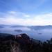 在彌山山頂看清澈的藍