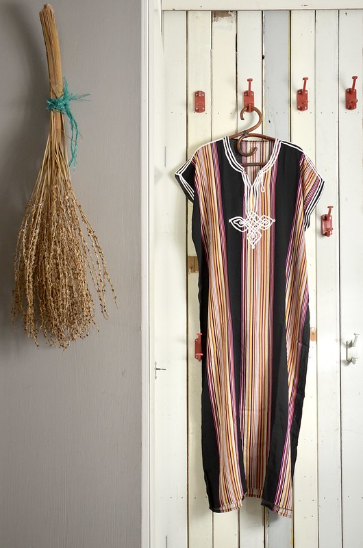 black striped kaftan