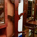 Tall dark wood stained coat stand E125