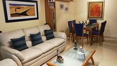 Gran salón comedor de 20 m2 con terraza acristalada, muy soleado,y con fabulosas vistas. Solicite más información a su inmobiliaria de confianza en Benidorm  www.inmobiliariabenidorm.com