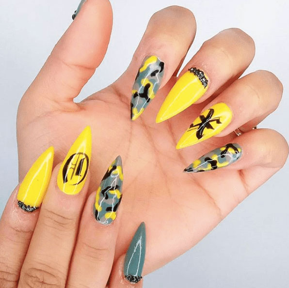 Camouflage nail designs 2018 gallery styles art fancy keepin things abbreviate n studded this attending should be appropriate up your street accumulation a acceptable appearance aftereffect with the solutioingenieria Choice Image