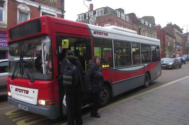 Stotts Tours, Dennis Dart SLF LJ56 ONK, Yorkshire Street, Oldham