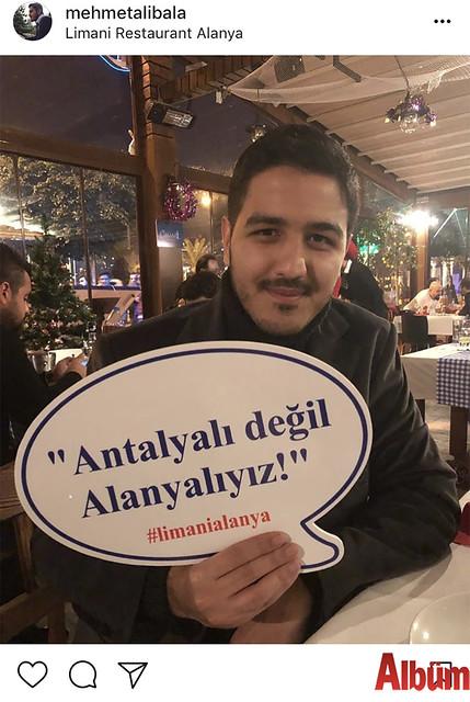 Mehmet Ali Bala, Limani Restoran'dan yaptığı eğlenceli paylaşımıyla beğeni topladı.