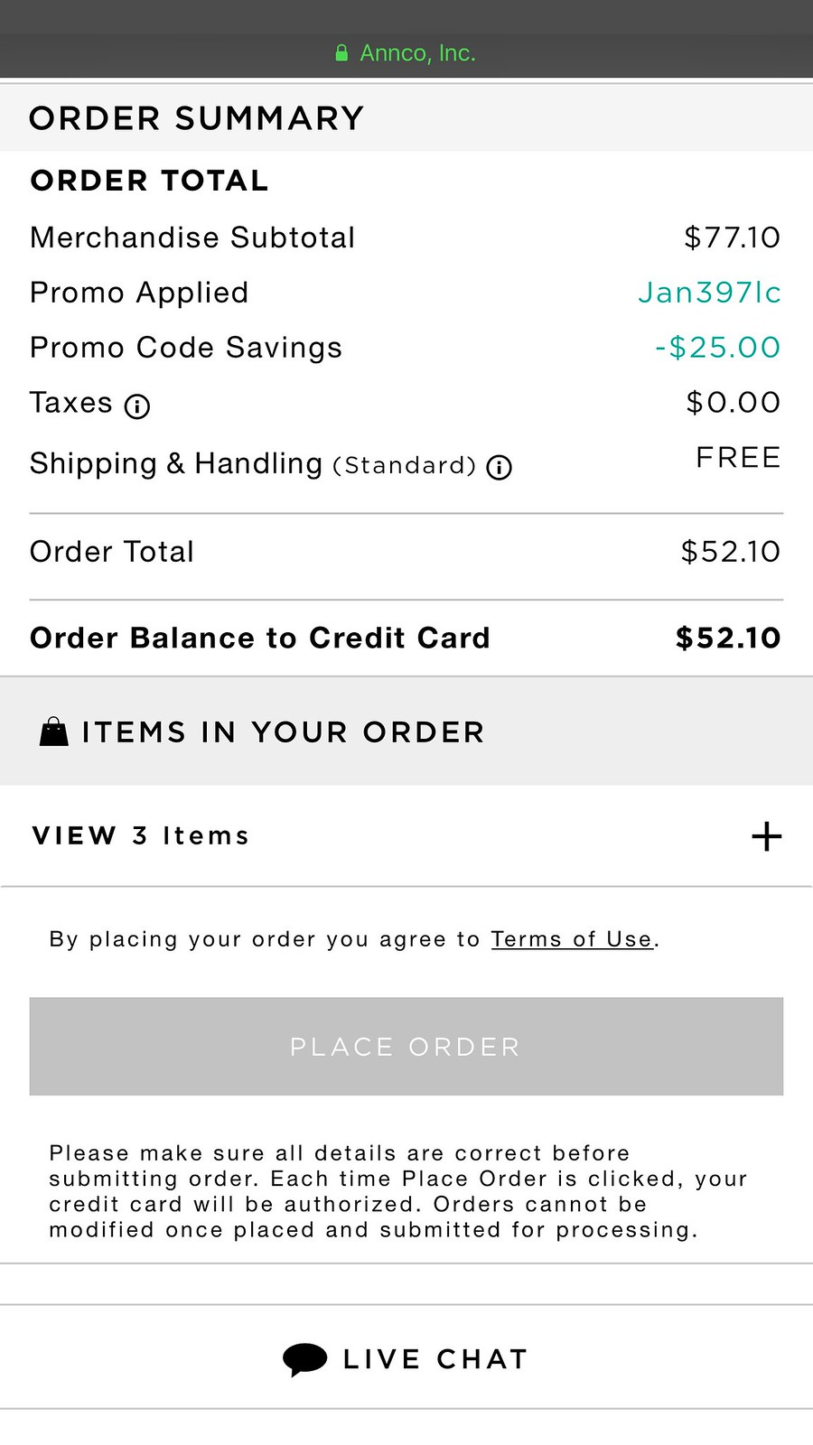 Extra $25 off $75+ with code JAN397LC
