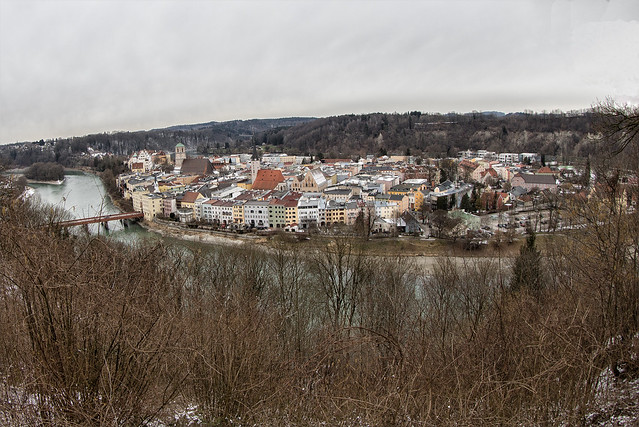 View to Wasserburg and the Inn