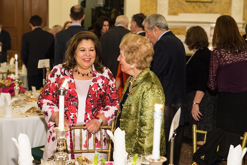 Shaista Mahmood and Diana Davis Spencer - 2017 Tribute Dinner at the Residence of the British Ambassador