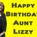 Aunt Lizzy's birthday card