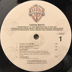 KARYN WHITE:KARYN WHITE(LABEL SIDE-A)