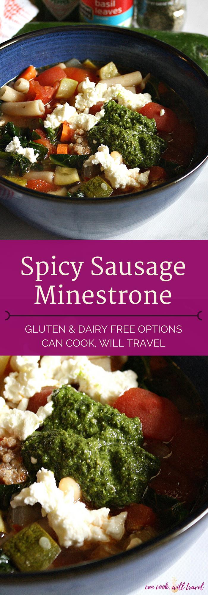 Spicy Sausage Minestrone_Collage1