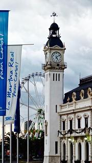 Edifició del Reloj (Clock Building) in the port of Valencia, Spain