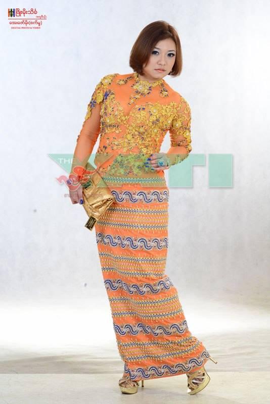 Myanmar fashion dress image
