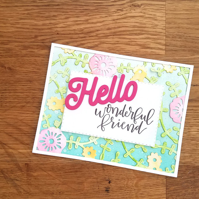Hello Wonderful Friend Card 3