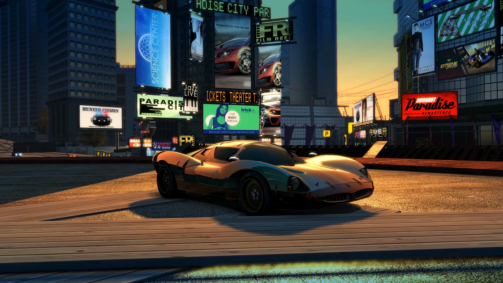 Open-world arcade racer Burnout Paradise Remastered roars