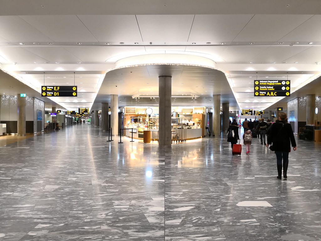 Inside the airport