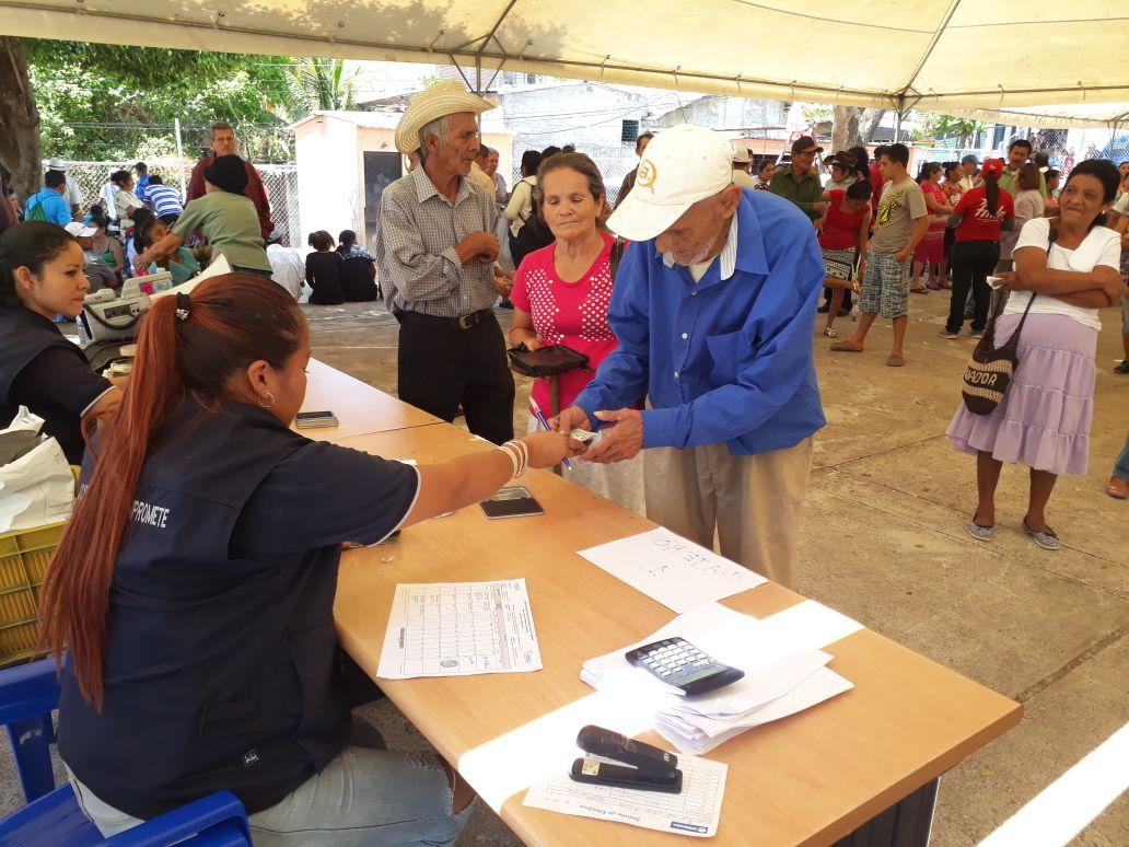 20180221 Entrega de Pensión Básica Universal en Santa Isabel Ishuatán