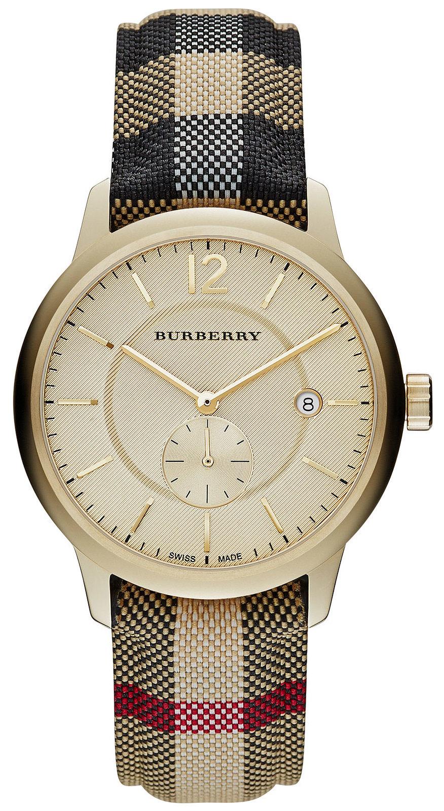 Đồng hồ Nam Burberry The Honey BU1001 mạ vàng PVD mới nhất 2017, đủ hộp sổ, mới 100%
