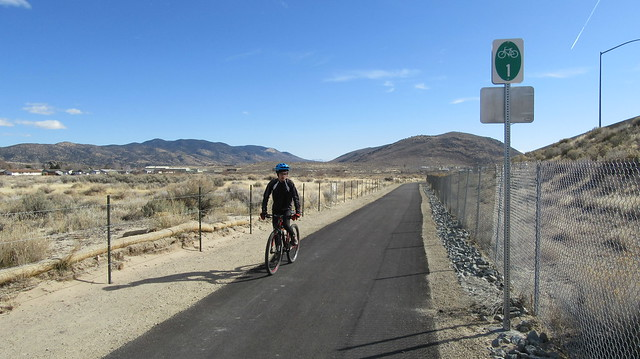 Freeway Bike Path near Lompa Ranch