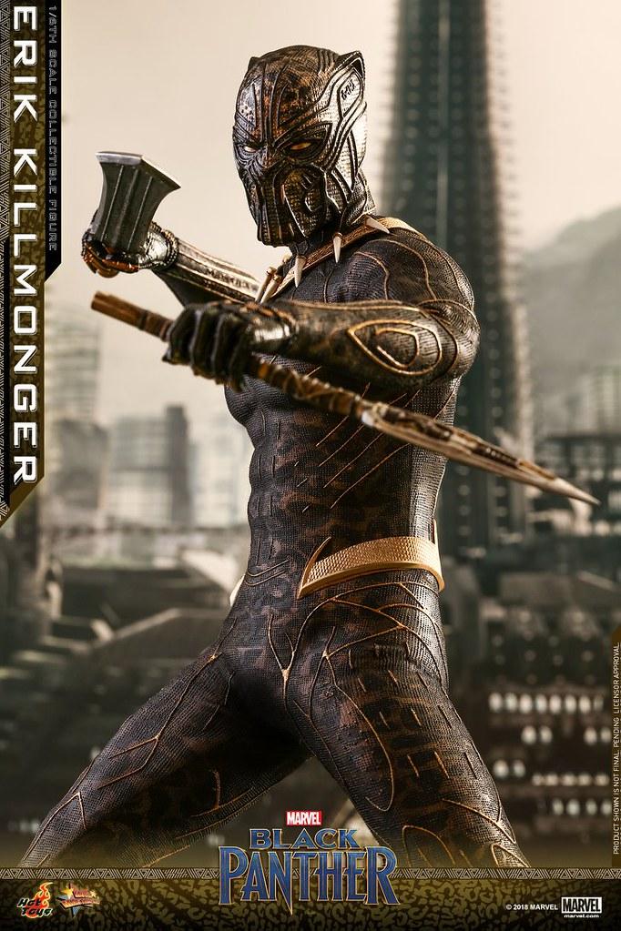這套戰衣實在太華麗啦~~ Hot Toys – MMS471 –《黑豹》艾瑞克·齊爾蒙格 Erik Killmonger 1/6 比例人偶作品