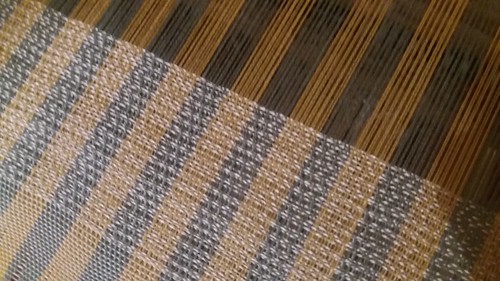 """a promise of spring"" tencel shawl, I never thought I would enjoy stripes so much."