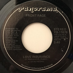FRONT PAGE:LOVE INSURANCE(LABEL SIDE-A)