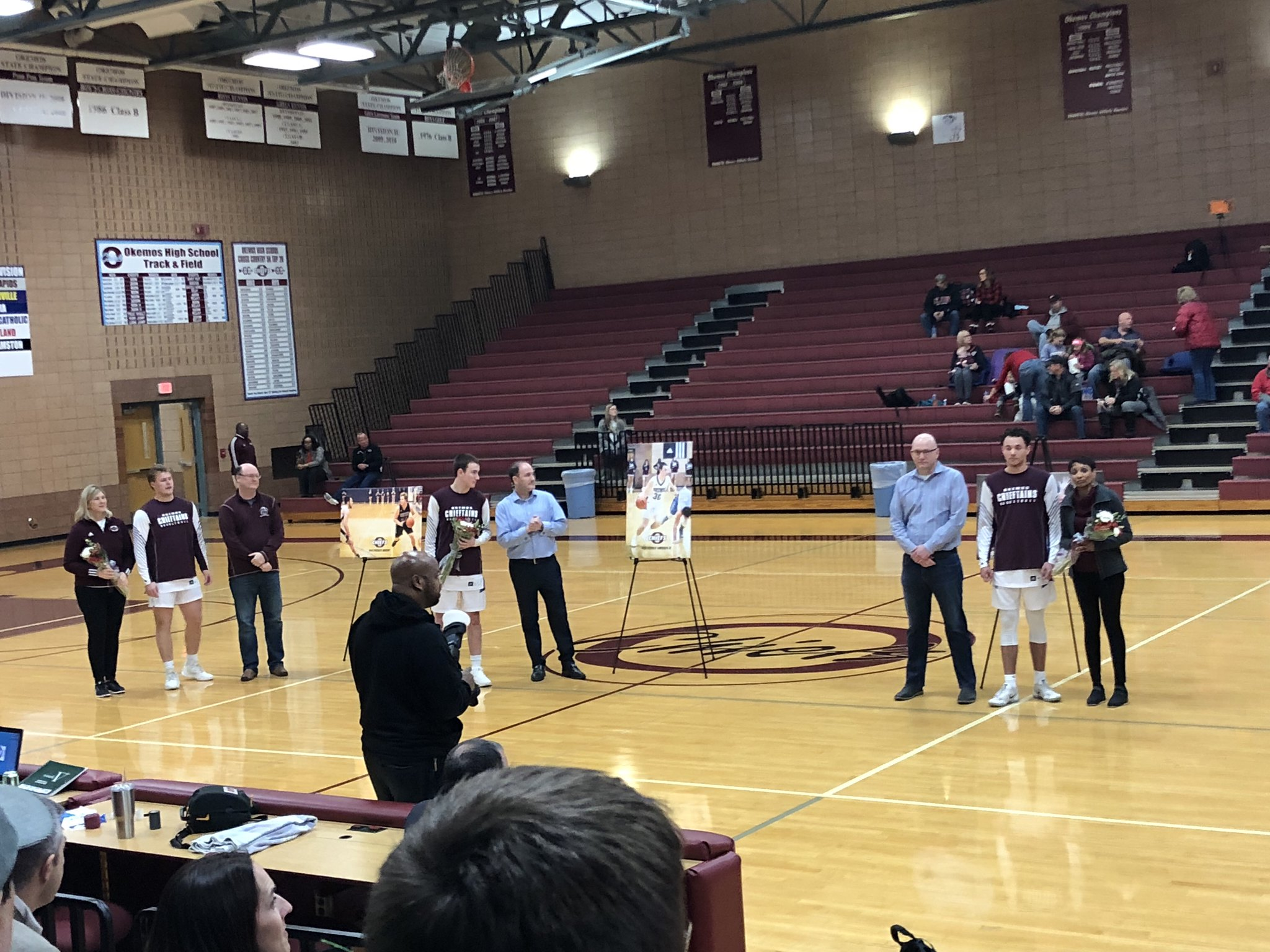 Okemos Boys Basketball Caps Off Their Senior Night With A Win