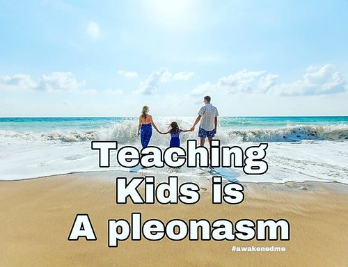 Teaching kids is a pleonasm #consciousness #awakening #shift #love #harmony #gratitude #soulrocker #quantum #lightworker #namaste #leadership #conscious #spiritual #goodvibes #higherconsciousness #ascension #quotes #education #God #Heaven #christ #lawofat