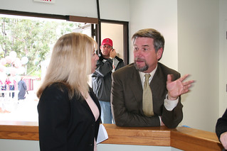 Orange County Auditor-Controller David Sundstrom with Jean Pasco