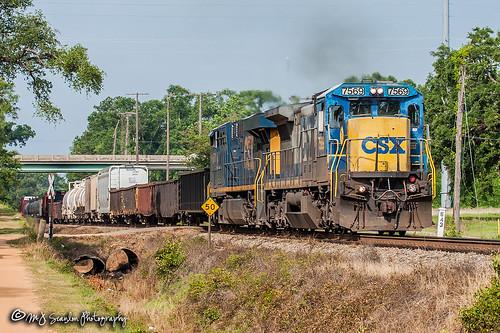 CSX 7569 | GE C40-8 |CSX M&M Subdivision
