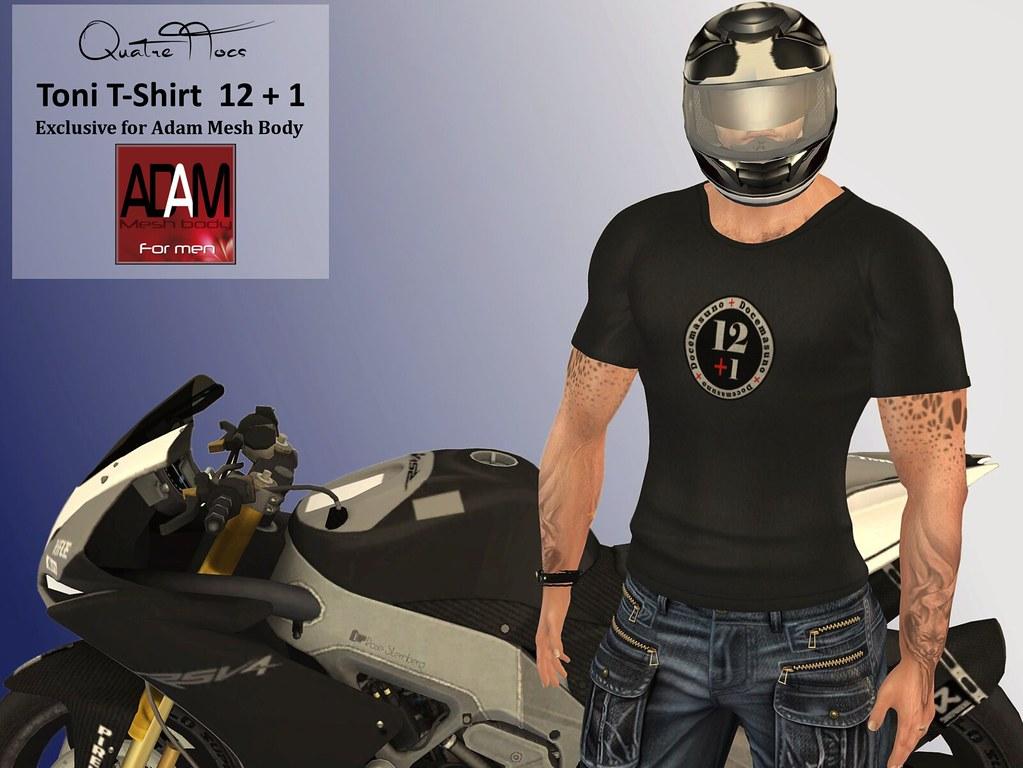 Adam T-Shirt Toni  12+1 - TeleportHub.com Live!
