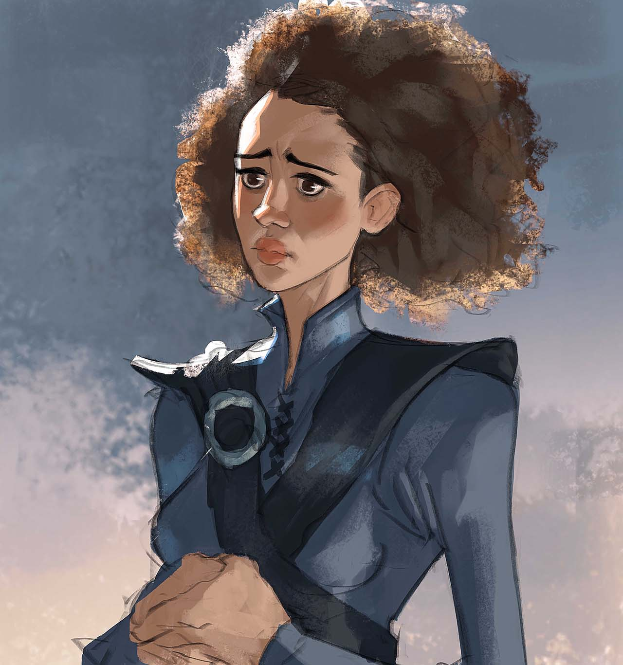 Artist Creates Unique Character Arts From Game Of Thrones – Missandei Character Art By Ramón Nuñez