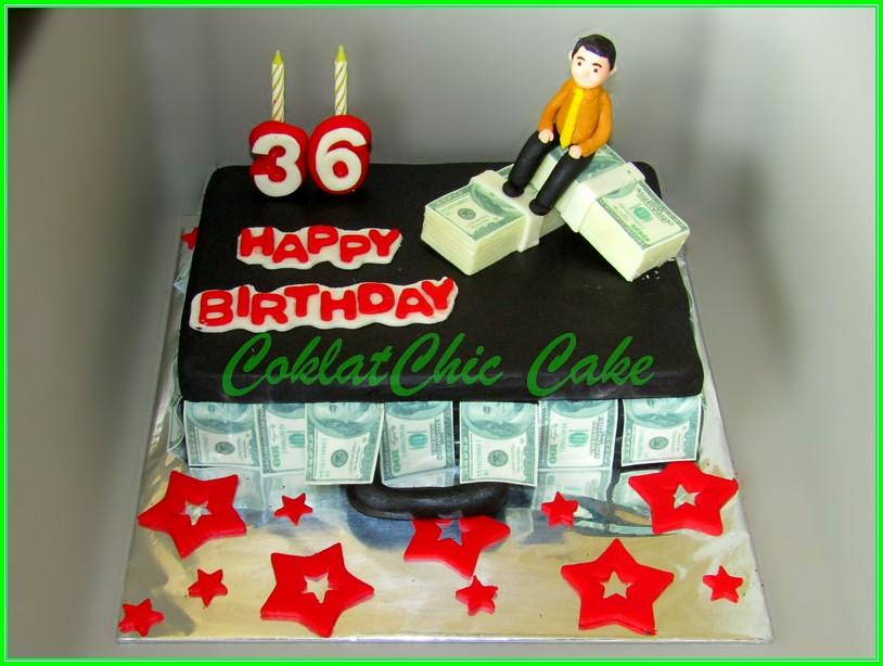 Cake Koper Uang US$ 15x22 cm