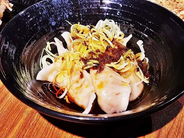 Shichimi Su Buta / Boiled Pork Dumplings With 7-Spice Vinegar