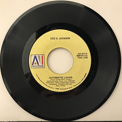 DEE D. JACKSON:AUTOMATIC LOVER(RECORD SIDE-A)